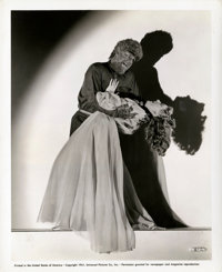"""Lon Chaney Jr. and Evelyn Ankers in """"The Wolf Man"""" (Universal, 1941). Publicity Photo (8"""" X 10"""")..."""