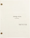 Memorabilia:Miscellaneous, Transformers: The Movie Revised Final Draft Script (Sunbow Productions, Inc., 1985)....