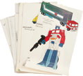 Memorabilia:Miscellaneous, Transformers Character Guide Sheet Group (SunbowProductions, Inc., 1984).... (Total: 127 Items)