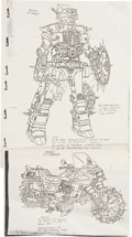 Memorabilia:Miscellaneous, Transformers Character Sketch Photocopy Group (Sunbow Productions, Inc., 1980s).... (Total: 4 Items)