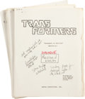 Memorabilia:Miscellaneous, Transformers First Season Script Group (Sunbow Productions, Inc., 1984).... (Total: 3 Items)