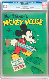 Four Color #27 Mickey Mouse (Dell, 1943) CGC VF+ 8.5 Off-white pages
