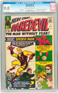 Silver Age (1956-1969):Superhero, Daredevil #1 (Marvel, 1964) CGC VF/NM 9.0 Cream to off-whitepages....