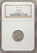 Bust Dimes, 1831 10C AU50 NGC. PCGS Population (21/200). NGC Census: (5/227).Mintage: 771,350. Numismedia Wsl. Price for problem free ...
