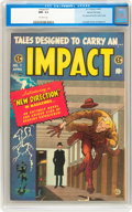 Golden Age (1938-1955):Horror, Impact #1 Gaines File Copy pedigree 1/12 (EC, 1955) CGC NM- 9.2Off-white pages....
