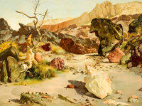 PROPERTY OF A PROMINENT TEXAS COLLECTOR  RALPH BROWNELL MCGREW (American, 1916-1994) Lure of the Canyon</