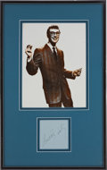 Music Memorabilia:Autographs and Signed Items, Buddy Holly Autograph Framed Display....