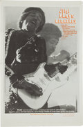 Music Memorabilia:Posters, Jimi Hendrix Jimi Plays Berkeley Movie Poster (New LineCinema, 1973)....
