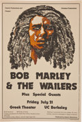 Music Memorabilia:Posters, Bob Marley and the Wailers Berkeley Concert Poster (OverlandProductions, 1978)....