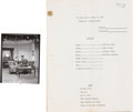 Movie/TV Memorabilia:Documents, Lucille Ball I Love Lucy Script with Photo.... (Total: 2 )