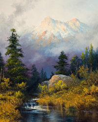 A. D. GREER (American, 1904-1998) The Glory of Nature Oil on canvas 20 x 16 inches (50.8 x 40.6 c