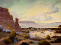 Texas, FREDERICK JARVIS (American, 1868-1944). Untitled. Oil oncanvas. 30 x 40 inches (76.2 x 101.6 cm). Signed lower left:...