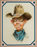 Western, PROPERTY OF A PROMINENT TEXAS COLLECTOR. DUANE BRYERS (American, b.1911). Ernest Pride III, 1973. Pastel on paper. 10 ...
