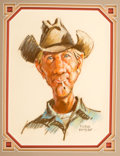 Western, PROPERTY OF A PROMINENT TEXAS COLLECTOR. DUANE BRYERS (American, b.1911). Mule Scruggs, 1973. Pastel on paper. 13 x 10...