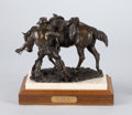 Sculpture, PROPERTY OF A PROMINENT TEXAS COLLECTOR. HERB MIGNERY (American, b.1937). Let Down on #7, 1985. Bronze. 8-1/2 x 11 x 6...
