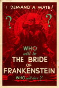 "Movie Posters:Horror, The Bride of Frankenstein (Universal, 1935). Teaser One Sheet (27""X 41"") Style E.. ..."
