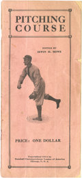 "Baseball Collectibles:Publications, 1914 ""Pitching Course"" Baseball Instructional Pamphlet - WalterJohnson On Cover...."
