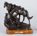 Sculpture, PROPERTY OF A PROMINENT TEXAS COLLECTOR. WILLIAM MOYERS (American, 1916-2010). Summer, 1977. Bronze. 11-1/2 x 13 x 12 ...