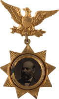 Political:Ferrotypes / Photo Badges (pre-1896), James A. Garfield: A Fancy and Choice 1880 Ferrotype Badge....