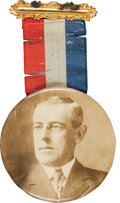 Political:Pinback Buttons (1896-present), Woodrow Wilson: Large Sepia Button. ...