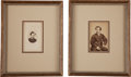 Photography:CDVs, John Wilkes Booth: Pair of Cartes de Visite.... (Total: 2 Items)