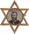 Political:Ferrotypes / Photo Badges (pre-1896), Ulysses S. Grant: Very Choice Grant Star Ferrotype....