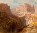 Western, SAMUEL COLMAN (American, 1832-1920). The Tower of Babel, Colorado Canyon (double sided). Oil on canvas. 12-1/2 x 15 inch...