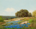 Texas:Early Texas Art - Regionalists, PALMER CHRISMAN (American, 1913-1984). Bluebonnet Hillside.Oil on canvas . 16-1/4 x 20-1/4 inches (41.3 x 51.4 cm). Sig...