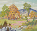 Paintings, PETER LANZ HOHNSTEDT (American, 1872-1957). Flowering Landscape. Oil on canvas. 25 x 30 inches (63.5 x 76.2 cm). Signed ...