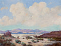 Paintings, FREDERICK JARVIS (American, 1868-1944). Desert Landscape. Oil on canvas. 18 x 24 inches (45.7 x 61.0 cm). Signed lower l...