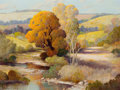 Paintings, FREDERICK JARVIS (American, 1868-1944). Landscape. Oil on canvas. 18-1/2 x 24-1/2 inches (47.0 x 62.2 cm). Signed lower ...