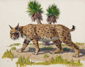 Texas, FRED DARGE (American, 1900-1978). Set of Three: The Brown Bear,The Bobcat, and The Coyote . Oil on artist's board. 8 x ...(Total: 3 Items)