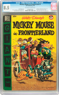 Golden Age (1938-1955):Funny Animal, Dell Giant Comics Mickey Mouse in Frontier Land #1 (Dell, 1956) CGCVF+ 8.5 Off-white to white pages....