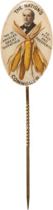 "Political:Miscellaneous Political, William Jennings Bryan: Classic ""Ear of Corn"" Oval Stickpin...."