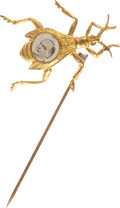 Political:Miscellaneous Political, William McKinley: Most Unusual Stationary Gold Bug Stickpin with McKinley's Portrait....
