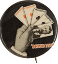 """Political:Pinback Buttons (1896-present), Theodore Roosevelt: The Scarce 1"""" Version of the Classic Playing Card Design. ..."""