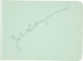 Movie/TV Memorabilia:Autographs and Signed Items, John Barrymore Signed Autograph Album Leaf....