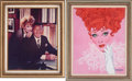 Movie/TV Memorabilia:Photos, Lucille Ball Portrait by Richard Amsel with Photo.... (Total: 2 )