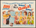 "Movie Posters:Elvis Presley, Girls! Girls! Girls! Lot (Paramount, 1962). Half Sheet (22"" X 28"")and One Sheet (27"" X 41""). Elvis Presley.. ... (Total: 2 Items)"