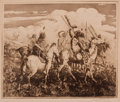 Prints, EDWARD BOREIN (American, 1872-1945). The War Party, 1917. Etching on paper. Plate: 10 x 12 inches (25.4 x 30.5 cm). Sign...