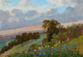 Miscellaneous, CARL THOMAS HOPPE (American, 1897-1981). BluebonnetHillside, 1969. Oil on masonite. 18 x 26 inches (45.7 x 66.0cm). Si...