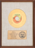 "Music Memorabilia:Awards, The Beatles ""A Hard Day's Night"" RIAA Gold Single Award...."