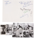 Music Memorabilia:Autographs and Signed Items, Beatles Secretarial-Signed Christmas Card.... (Total: 7 )