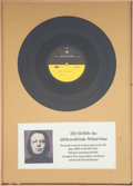 "Music Memorabilia:Recordings, Dion ""Only You Know"" Rare Acetate Display...."