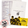 Music Memorabilia:Autographs and Signed Items, Beatles Related - Brian Epstein Autograph plus Memorabilia....(Total: 4 )