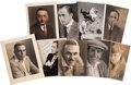 Movie/TV Memorabilia:Autographs and Signed Items, Assorted Vintage Actor Signed Photos (1922-37).... (Total: 9 )