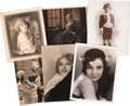 Movie/TV Memorabilia:Autographs and Signed Items, Assorted Vintage Actress-Signed Photos.... (Total: 6 )
