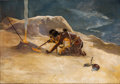 Paintings, AMERICAN SCHOOL (20th Century). Indian. Oil on canvas. 21 x 30-1/2 inches (53.3 x 77.5 cm). ...