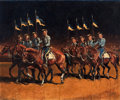 Western, DON PERCEVAL (American, 20th Century). Parade Cavalry, 1935. Oil on canvas. 25 x 30 inches (63.5 x 76.2 cm). Signed and ...