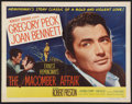 """Movie Posters:Drama, The Macomber Affair (United Artists, 1947). Half Sheet (22"""" X 28"""") Style A and Lobby Card Set of 8 (11"""" X 14""""). Drama.. ... (Total: 9 Items)"""